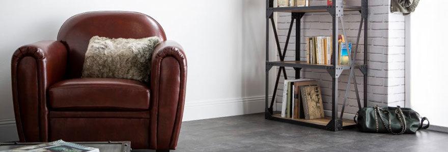 fauteuil Chesterfield en cuir